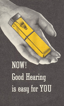 Advertisement for the Dahlberg Jr. hearing aid
