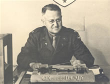 Col. Lee D. Cady, commanding officer of the 21st General Hospital
