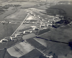 Aerial view, Ravenel Hospital, Mirecourt, France