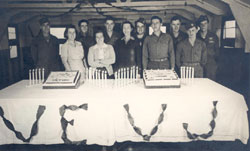 V-E Day party, 21st General Hospital, Mirecourt, France, 1945